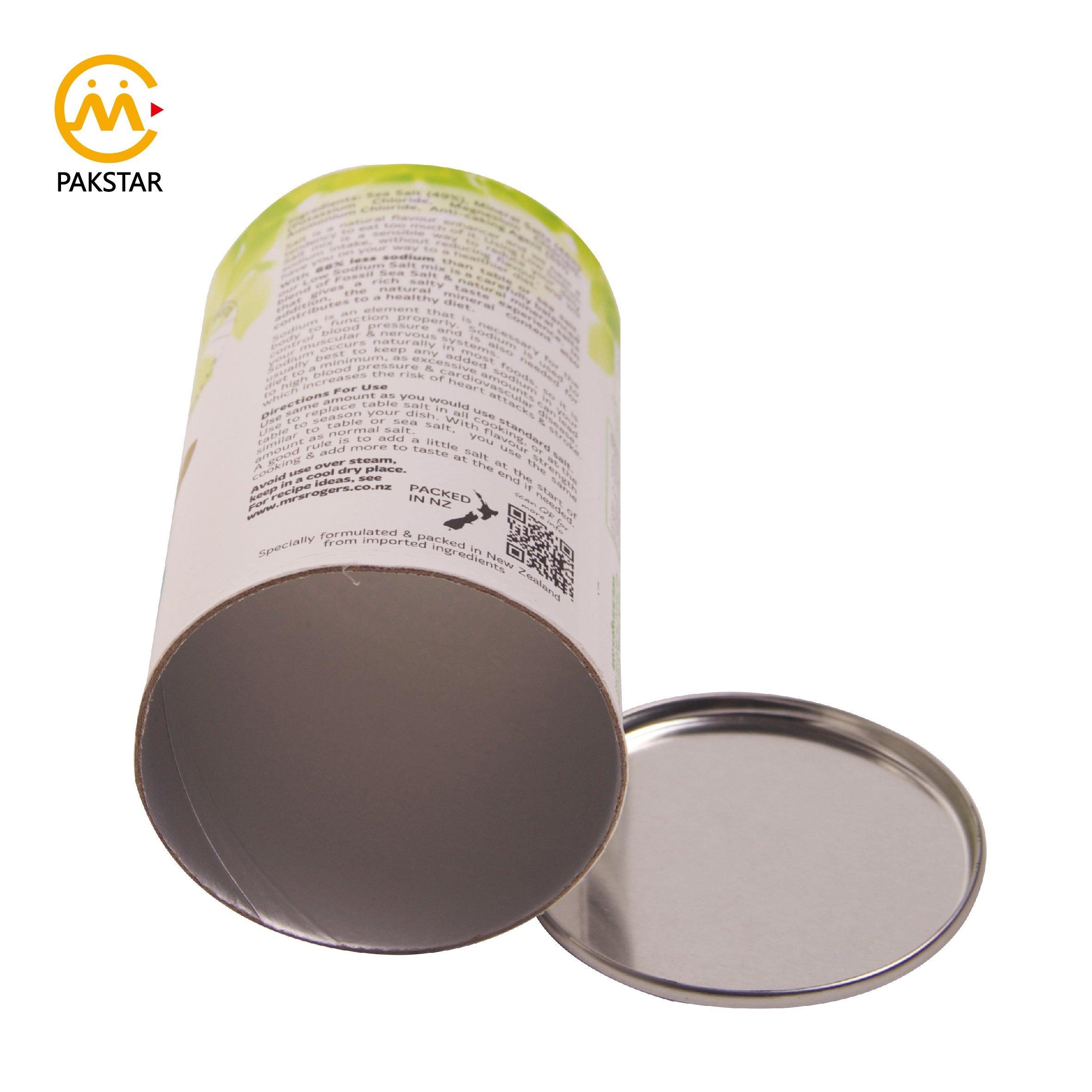 Top selling white food grade paper tube for salt spice